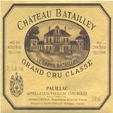 Château Batailley  Cinquième Cru label