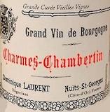 Dominique Laurent Charmes-Chambertin Grand Cru Vieilles vignes label