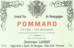 Dominique Laurent Pommard Premier Cru Les Rugiens label