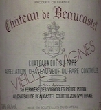 Château de Beaucastel Châteauneuf-du-Pape Roussanne Vieilles Vignes label