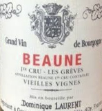 Dominique Laurent Beaune Premier Cru Grèves label