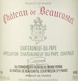 Château de Beaucastel Châteauneuf-du-Pape  label