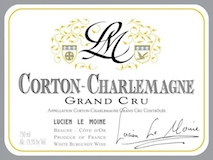 Lucien Le Moine Corton-Charlemagne Grand Cru  label