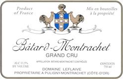 Domaine Leflaive Bâtard-Montrachet Grand Cru  label