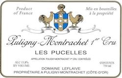 Domaine Leflaive Puligny-Montrachet Premier Cru Les Pucelles label