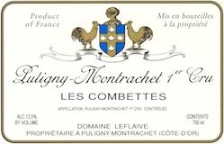 Domaine Leflaive Puligny-Montrachet Premier Cru Les Combettes label