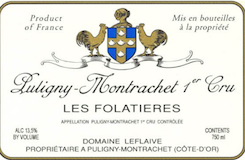 Domaine Leflaive Puligny-Montrachet Premier Cru Les Folatières label
