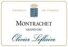 Olivier Leflaive Montrachet Grand Cru  label