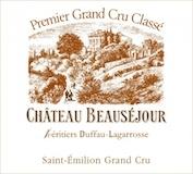 Château Beauséjour Héritiers Duffau Lagarrosse  Premier Grand Cru Classé B label