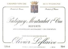 Olivier Leflaive Puligny-Montrachet Premier Cru Les Referts label