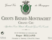 Domaine Roger Belland Criots-Bâtard-Montrachet Grand Cru  label