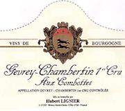 Domaine Hubert Lignier Gevrey-Chambertin Premier Cru Aux Combottes label