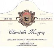 Domaine Hubert Lignier Chambolle-Musigny Vieilles Vignes label