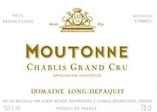 Domaine Long-Depaquit Chablis Grand Cru Moutonne label