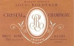 Louis Roederer Cristal Rosé label