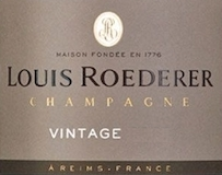 Louis Roederer Brut Vintage label