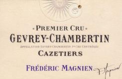 Frédéric Magnien Gevrey-Chambertin Premier Cru Les Cazetiers label