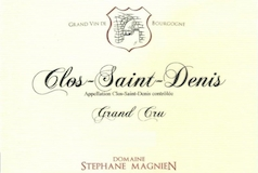 Domaine Stéphane Magnien Clos Saint-Denis Grand Cru  label