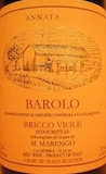 M. Marengo Barolo Bricco Viole label