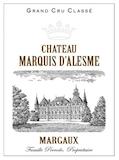 Château Marquis d'Alesme  Troisième Cru label