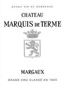 Château Marquis de Terme  Quatrième Cru label