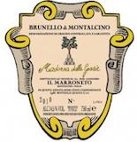 Il Marroneto Brunello di Montalcino Madonna delle Grazie label