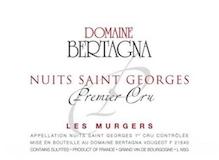 Domaine Bertagna Nuits-Saint-Georges Premier Cru Les Murgers label