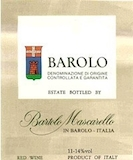 Bartolo Mascarello Barolo  label