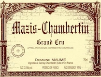 Domaine Maume Mazis-Chambertin Grand Cru  label