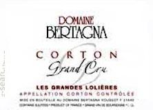 Domaine Bertagna Corton Grand Cru Les Grandes Lolières label