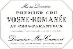 Domaine Méo-Camuzet Vosne-Romanée Premier Cru Cros Parantoux label