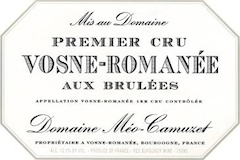 Domaine Méo-Camuzet Vosne-Romanée Premier Cru Aux Brûlées label