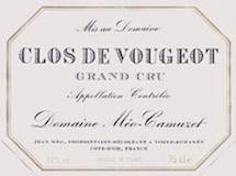 Domaine Méo-Camuzet Clos de Vougeot Grand Cru  label