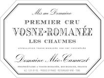 Domaine Méo-Camuzet Vosne-Romanée Premier Cru Les Chaumes label