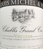 Louis Michel et Fils Chablis Grand Cru Vaudésir label