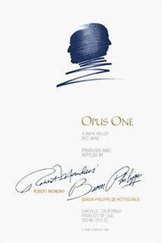 Opus One Winery Opus One label