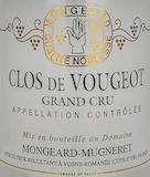Domaine Mongeard-Mugneret Clos de Vougeot Grand Cru  label
