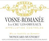 Domaine Mongeard-Mugneret Vosne-Romanée Premier Cru En Orveaux label