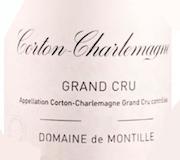 Domaine de Montille Corton-Charlemagne Grand Cru  label