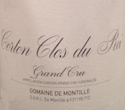 Domaine de Montille Corton Grand Cru Clos Du Roi label