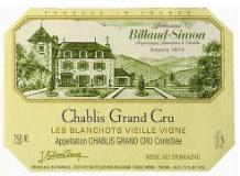 Domaine Billaud-Simon Chablis Grand Cru Blanchot  Vieilles vignes label