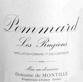 Domaine de Montille Pommard Premier Cru Les Rugiens Bas label