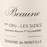 Domaine de Montille Beaune Premier Cru Les Sizies label