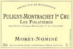 Moret-Nominé Puligny-Montrachet Premier Cru Les Folatières label