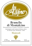 Altesino Brunello di Montalcino Montosoli label