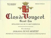Domaine Denis Mortet Clos de Vougeot Grand Cru  label
