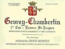 Domaine Denis Mortet Gevrey-Chambertin Premier Cru Lavaux Saint-Jacques label