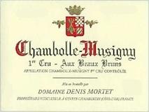 Domaine Denis Mortet Chambolle-Musigny Premier Cru Aux Beaux Bruns label