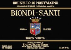 Biondi Santi (Tenuta Greppo) Brunello di Montalcino Annata label
