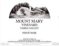 Mount Mary Pinot Noir label